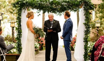 Weddng Ceremony Floral Arrangements