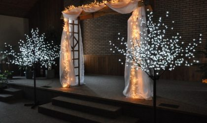 7' x 7' Arch & Lighted Trees